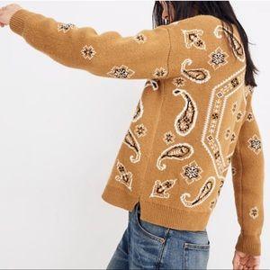 MADEWELL Bandana Paisley Print Sweater
